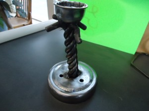 twisted bolt candle holder